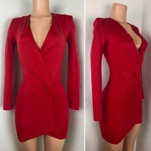 MISSGUIDED little red wrap dress sexy! XS 2